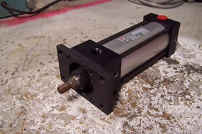 "New Eaton Hydro-Line Pneumatic Cylinder 2"" Bore 4"" Stroke 1/4"" Npt Ports"