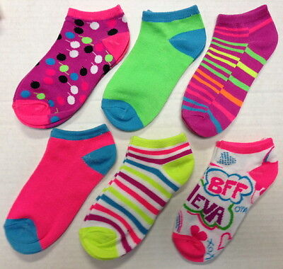 6 Different Pairs Girls Low Cut Socks By Sweetcakes Sock Sz 6-8.5 Shoe Sz 7-13