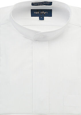 NWT Men's Banded Collar Dress Shirt. Size XS-5XL.