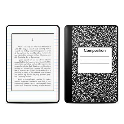 Original Kindle Paperwhite Skin - Composition Notebook - Sticker Decal