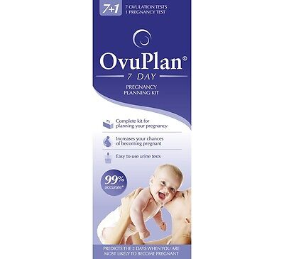 OvuPlan 10 day pregnancy planning kit ( x 3 ) OVULATION FERTILITY 30 test total
