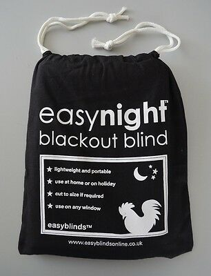 NEW! EasyNight Portable Blackout Blind XL 2.3m x 1.45m Fantastic for Travel!