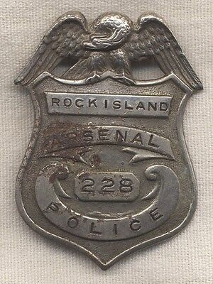 WWI US Army Rock Island Arsenal (RIA) Police Badge