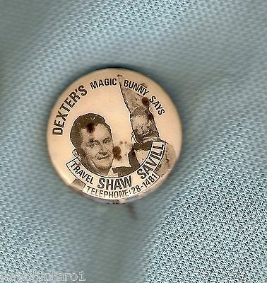 #D150.   Dexters Magic Bunny / Travel Shaw Savill Tin Badge
