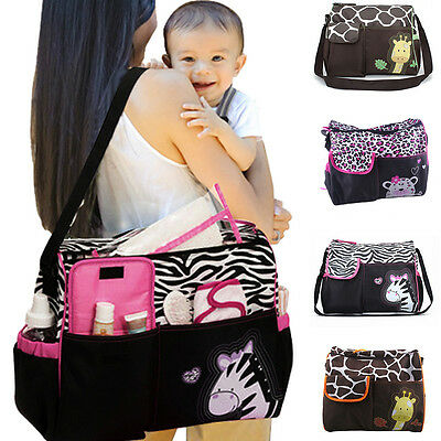 Mummy Handbag Tote Changing Bag Baby Diaper Nappy Changing Mat Multi Function