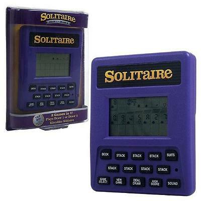 Trademark Global Electronic Handheld Solitaire Game New