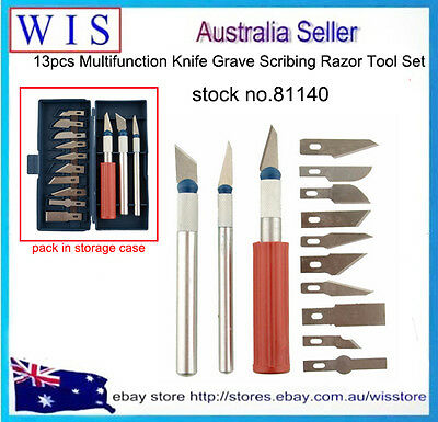16 Piece Precision Hobby Craft Knife Scalpel Set,3 Knives with 13 Cutting Blades