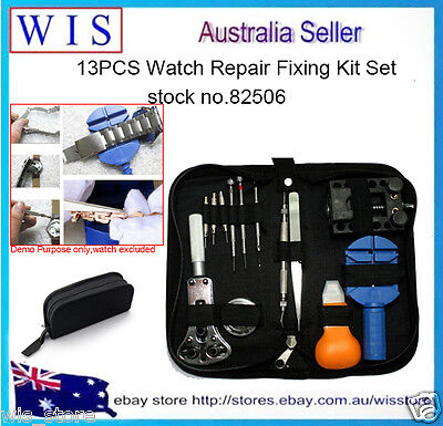 13PCS Watch Repair Fixing Kit Set Opener Link Remover Pin Screwdriver Tweezer