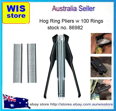 Automatic Feed Hog Ring Plier Hand Operated w 100 x Clips,Hog Ring Plier-86982