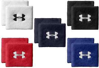 "Under Armour 1218012 3"" UA Performance Wristband 1-PAIR Sweat Running 2-BANDS CL"