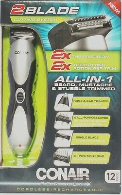 Conair All-In-One Grooming System Cordless Beard Mustache Trimmer GMT270GB