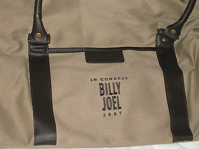 NEW Billy Joel In Concert 2007 Big Tan Luggage Travel Overnight Bag RARE Music