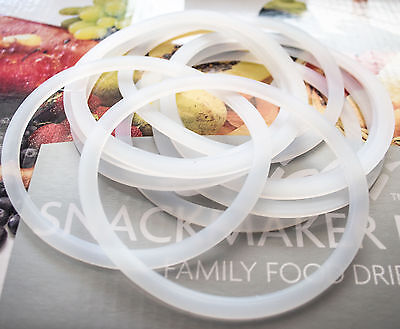 10 x Silicon Preserving Seals Suit Ball Mason Stainless Steel Regular Mouth Lids