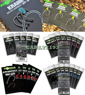 Brand New Korda Carp Hooks - All Sizes & Types Available.