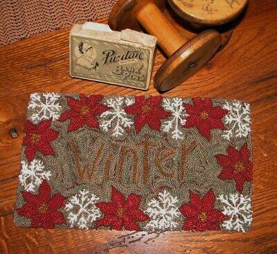 "Primitive Punch Needle Pattern ~ ""winter"""