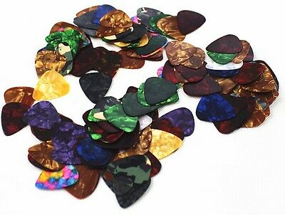 Acoustic Bulk Celluloid Electric Smooth Guitar Pick Picks Plectrum 0.46mm 10X tr