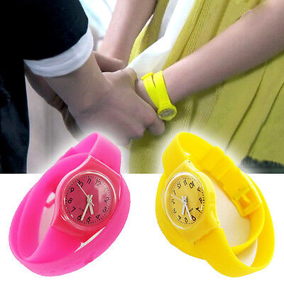 Unisex Mens Women Watch Students Candy Color Jelly Rubber Wrist Watch
