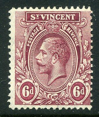 ST.VINCENT;   1913 early GV issue fine Mint hinged value  6d.