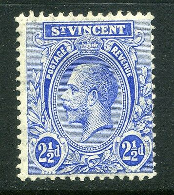ST.VINCENT;   1913 early GV issue fine Mint hinged value  2.5d.