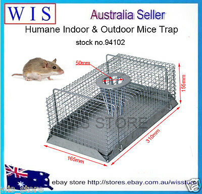 Humane Multi Catch Live Mouse Mice Trap Galvanized Mesh Wire Indoor & Outdoor