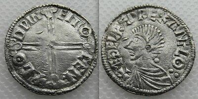 Nice Collectable Anglo Saxon, silver Hammered Aethelred coin, Long cross type