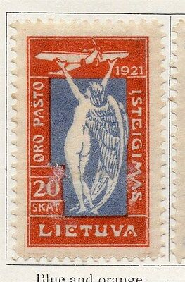 Lithuania 1921 Early Issue Fine Mint Hinged 20s. 104427