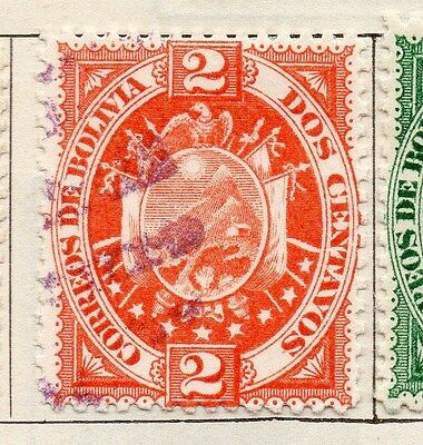 Bolivia 1894 Early Issue Fine Used 2c. 106750