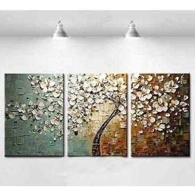 Hand-Painted Oil Paintings Modern Abstract Flowers Full Bloom Canvas Wall Art