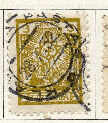 Lithuania 1923 Early Issue Fine Used 3c. 104214