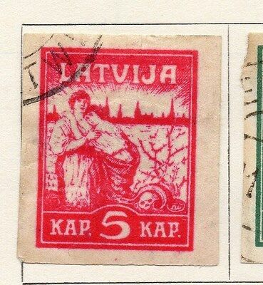 Latvia 1919 Early Issue Fine Used 5k. 105983