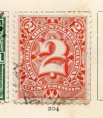 Uruguay 1898 Early Issue Fine Used 2c. 113291