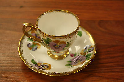 Original Napco China  Hand Painted Teacup and Saucer Set~1DD153~Free Shipping!