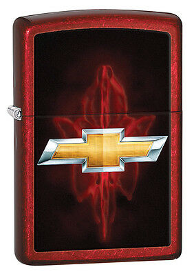 Zippo Candy Apple Red Chevy Windproof Lighter 28636 New
