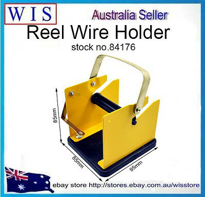 Solder Soldering Wire Reel Metal Holder Stand Support,Yellow Metal Frame-84176