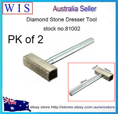 PK of 2 Diamond Dressing Tool Grinding Disc Wheel Stone Dresser Bench Grinder