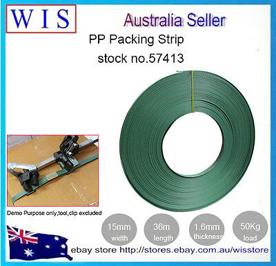 PP Packing Strap Plastic Hand Packing Blet Light Duty,15mm(W) x 36m(L)-57413