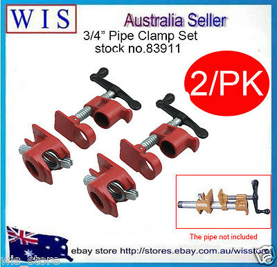 "Gluing Pipe Clamp 3/4"" 2 Sets - Woodworking Vice Hand Tool-83911"
