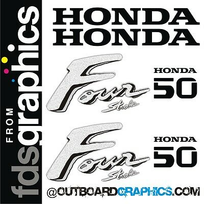 Honda 50hp four stroke outboard engine decals/sticker kit