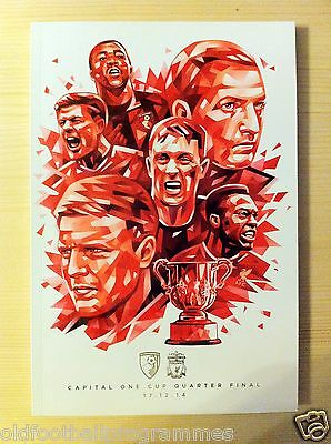 2014 Capital One Cup Quarter Final Programme *(Bournemouth V Liverpool)*