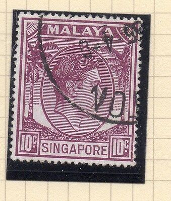 Singapore 1948 Early GVI Issue Fine Used 10c. 107894