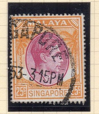 Singapore 1948 Early GVI Issue Fine Used 25c. 107888