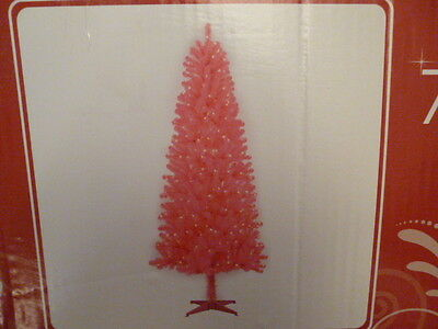 NEW 7 FT PRE LIT PINK CHRISTMAS TREE 780 TIPS 350 CLEAR LIGHTS WEDDING EASTER