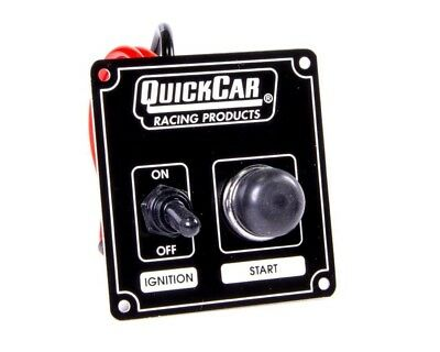 QuickCar Ignition Control Panel Starter Black 1 Toggle/ 1 Push Button Start USRA