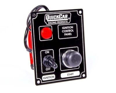 QuickCar Ignition Control Panel Black  1 Toggle/ 1 Push Button/ 1 Light