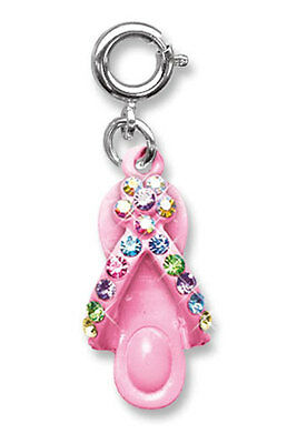 BNWT Charm It! PINK FLIP FLOP Thong sparkly clip-on charm for girls