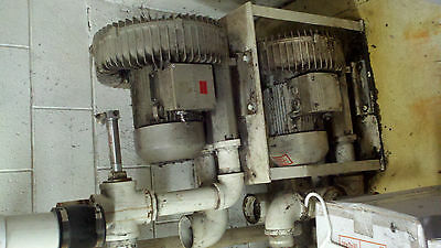 two Regenerative blowers used for shirt unit