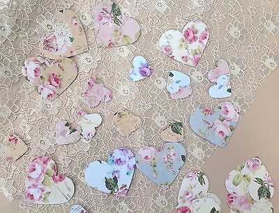 Vintage Shabby Chic Floral Scrapbook Table Confetti