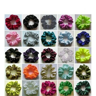ONE SCRUNCHIE - Crepe Back Satin (Choice Of Colours)  *MADE IN UK*