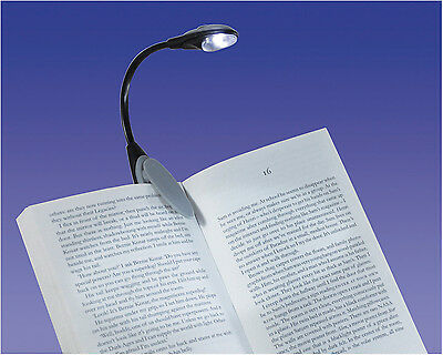 Flexible Portable Clip On LED Reading light Lamp Clip Kindle Hudl Book #VM967B