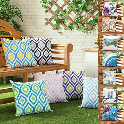 Waterproof Outdoor Printed Cushions Washable Scatter Garden Cane Furniture Bench